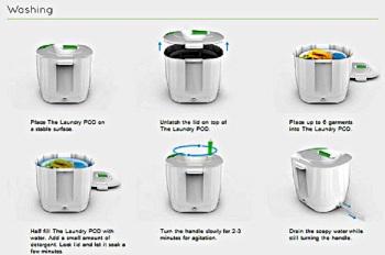 Laundry POD 4 cara kerja